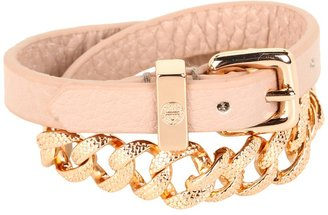Marc by Marc Jacobs Leather Chain Double Wrap (Nude) - Jewelry