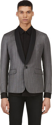 Band of Outsiders Grey Wool Striped Blazer $2,350 thestylecure.com