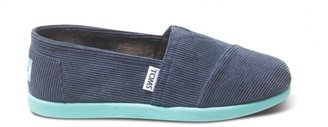 Toms Navy cord pop youth classics