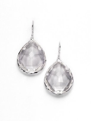 Ippolita Rock Candy Clear Quartz & Sterling Silver Large Teardrop Earrings