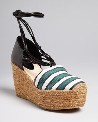 Chloé Ankle Strap Espadrille Wedge Sandals