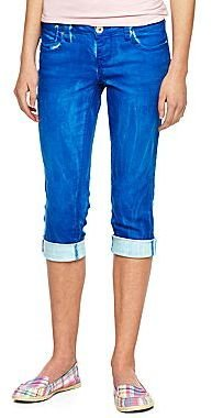 JCPenney Freestyle Revolution Cropped Contrast Cuff Jeans