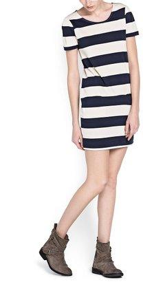 MANGO Straight-fit wide striped dress