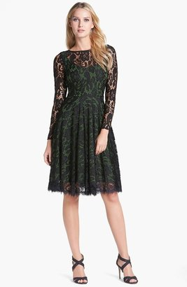 Isaac Mizrahi New York Lace Fit & Flare Dress