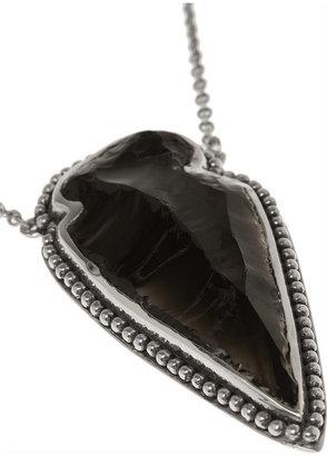 Pamela Love Arrowhead silver obsidian necklace