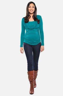 Olian Cowl Neck Maternity/Nursing Top
