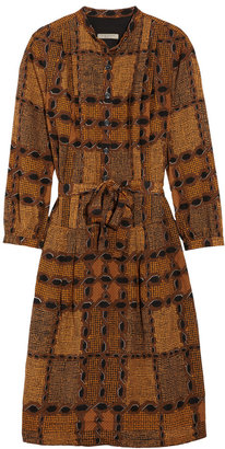 Burberry Printed cotton and silk-blend dress