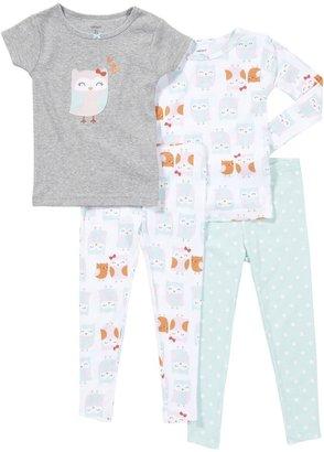 Carter's 4-Pc PJ Set - Kitty Floral- 12 Months