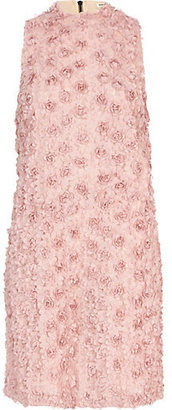 River Island Womens Pink 3D flower embellished shift dress