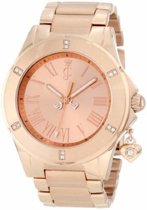Juicy Couture Women's 1900895 Rich Girl Rose Gold Plated Bracelet Watch $250 thestylecure.com