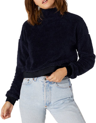 Beyond Yoga Cropped Sherpa Pullover