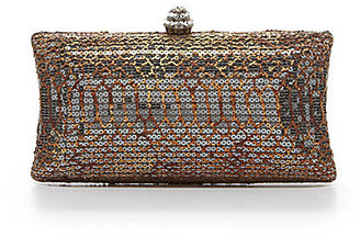 Kate Landry Social Snake Sequin Box Clutch