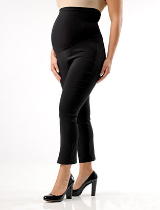 A Pea in the Pod Pull On Style Twill Slim Fit Slim Leg Maternity Crop Pants