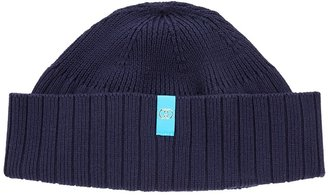 Gucci Navy Logo Knitted Beanie