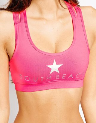 South Beach Bright Star Gym Crop Top
