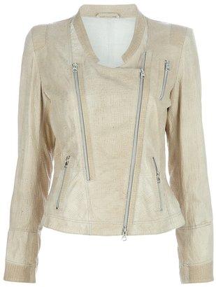 Sylvie Schimmel biker style jacket