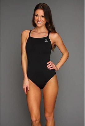 TYR Durafasttm Elite Solid Diamondfit (Black) Women's Swimsuits One Piece