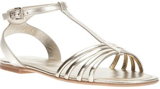 Hogan metallic sandal