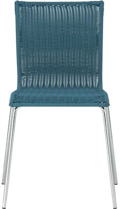 Crate & Barrel Kitchenette Teal Stack Chair
