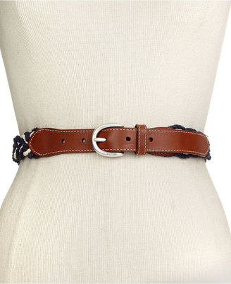 Tommy Hilfiger Belt, Tapered Multi Braid with Leather Tabs