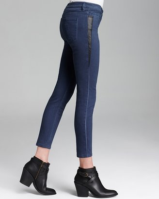 Yigal Azrouel Cut25 by Skinny Jeans - Side Leather Panel