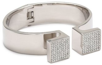 Vita Fede Omega Silver with Clear Crystal Bracelet