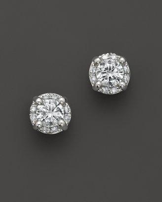 Diamond Earrings In 14K White Gold, 0.50 ct. t.w.