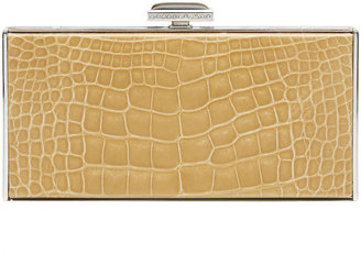 Judith Leiber Couture East-West Rectangle Clutch Bag, Camel