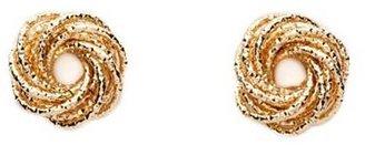 Charlotte Russe Golden Knot Stud Earrings