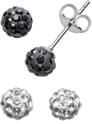 78e297cc5 Sterling Silver Crystal Ball & Stud Earring Set - Made with Swarovski  Crystals