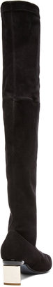 Nicholas Kirkwood Platino Over The Knee Suede Boots