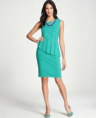 Ann Taylor Asymmetrical Peplum Dress