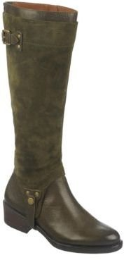 Franco Sarto Bevel Suede and Leather Boots