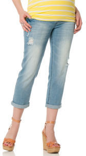 Motherhood Wallflower Secret Fit Belly® 5 Pocket Maternity Crop Jeans