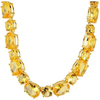 Noir Classic Oval CZ Necklace (Yellow/Gold) - Jewelry