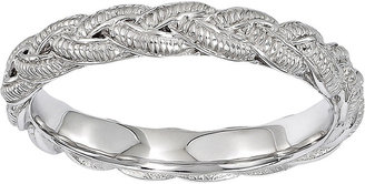 FINE JEWELRY Personally Stackable Sterling Silver Twisted Rope Stackable Ring $83.32 thestylecure.com