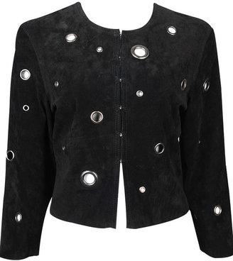 Forever 21 Suede Grommet Jacket