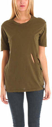 Nightcap Clothing Ripped Tee in Army