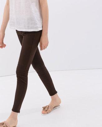 Zara Stretch Trousers With Zips