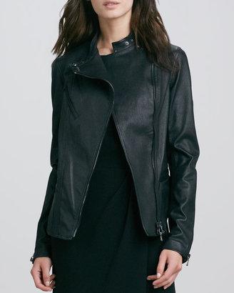3.1 Phillip Lim Leather Shrunken Field Jacket