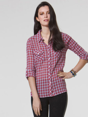 C&C California Mini multi plaid two pocket shirt