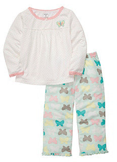 Carter's Girls' 12M-4T Ivory 2-pc. Butterfly Pajama Set