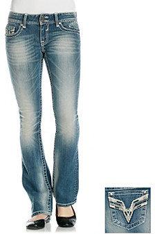 Vigoss Bling Back Slim Bootcut Jeans