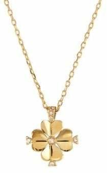 Kate Spade Legacy Logo Goldtone Crystal Pendant Necklace