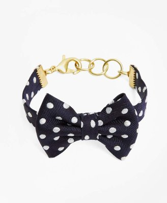 Brooks Brothers Kiel James Patrick Polka-Dot Bow-Tie Bracelet