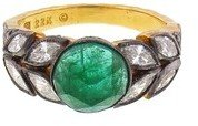 Cathy Waterman Rose Cut Emerald Garland Ring