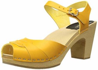 Swedish Hasbeens Women's Peep Toe Super High Heeled Sandal
