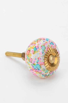 Urban Outfitters Glass Confetti Knob