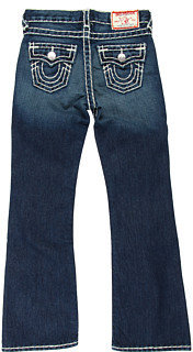 True Religion Billy Boot Cut Natural Super T in Dark Vintage (Toddler/Little Kids/Big Kids)