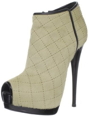 Giuseppe Zanotti Women's Quilted Peep-Toe Ankle Bootie